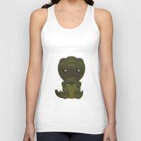 crocodile Tank Tops featuring Crocodile by triduscraft