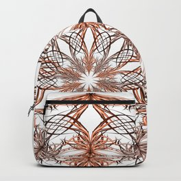 Mandala metal and orange Backpack