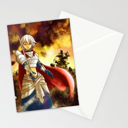 Female knight Stationery Cards