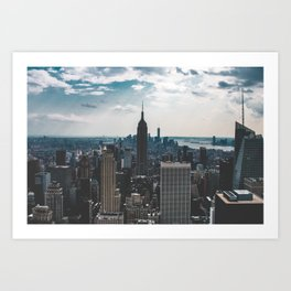 NEW YORK - CITY MANHATTAN - EMPIRE STATE BUILDING - PHOTOGRAPHY Art Print