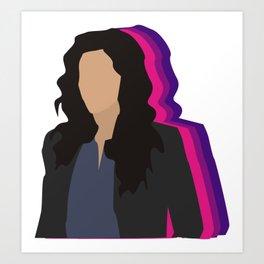 Rosa Pride Art Print