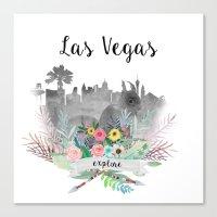 las vegas Canvas Prints featuring Las Vegas by Claudia Schoen