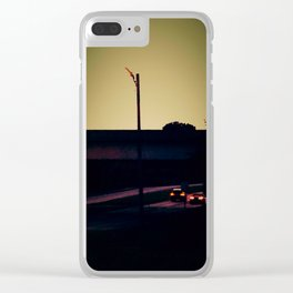 Tail Lights At Dusk Clear iPhone Case