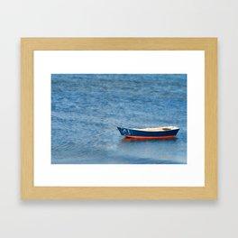 Empty Row boat Framed Art Print