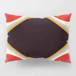 Colorful Retro Shapes Pillow Sham