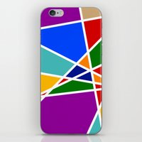 cracked iPhone & iPod Skins featuring Cracked by MarkStantonDesign
