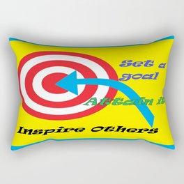 Set a Goal Rectangular Pillow