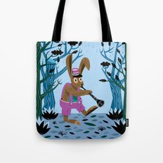 The Clarinet Bunny Tote Bag