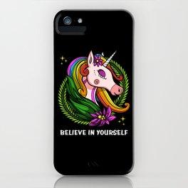 Magical Unicorn Believe In Yourself iPhone Case