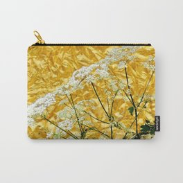 GOLDEN LACE FLOWERS FROM SOCIETY6 BY SHARLESART. Carry-All Pouch