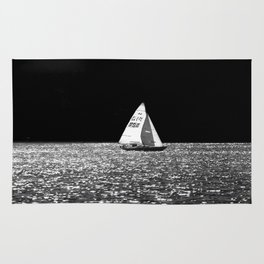 Sailing On The Lake Rug