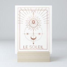 Le Soleil or The Sun Tarot White Edition Mini Art Print