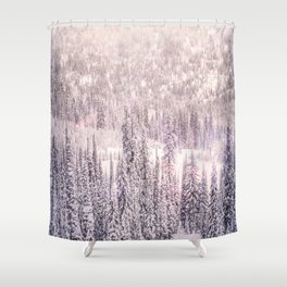 Winter Was Harsh - Trees covered in snow Shower Curtain