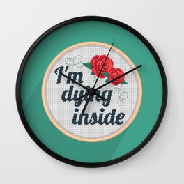 Brutally Honest Cross Stich Wall Clock