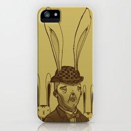 The Rabbit Man iPhone Case