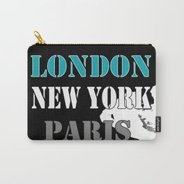 London , New York , Paris. Grunge . Carry-All Pouch