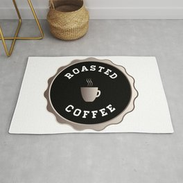 Round Roasted Coffee Sign Rug