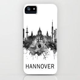 Hanover Germany Skyline BW iPhone Case