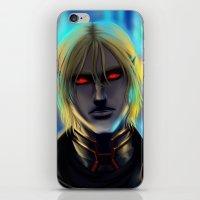 cyberpunk iPhone & iPod Skins featuring Cyberpunk Elf Vampire by Sandra Danborg