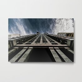 A Chicago Sky Walk, Welcome to the Clouds Metal Print