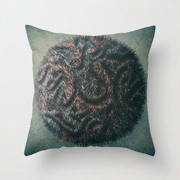 Augmented Furball Throw Pillow