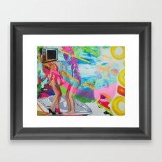 The Boob Tube Framed Art Print