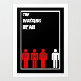 The Walking Dead Minimalist Art Print