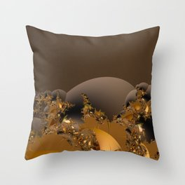 Golden Taste of Chocolates Throw Pillow