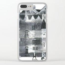 Taking a walk in edinburgh Clear iPhone Case