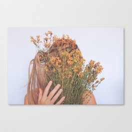 Connect; Woman with Plants; Feminine Energy Canvas Print