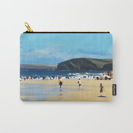 Harlyn Bay, Cornwall, Original Illustration  Carry-All Pouch