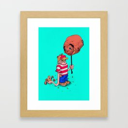 Balloon Dog Framed Art Print