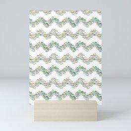 Sea glass - chevron stripe Mini Art Print