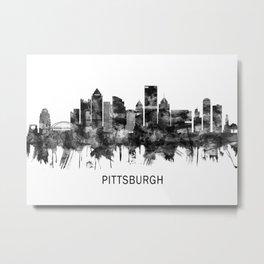 Pittsburgh Pennsylvania Skyline BW Metal Print