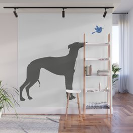 Whippet Dog Wall Mural