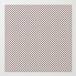 Root Beer Polka Dots Canvas Print