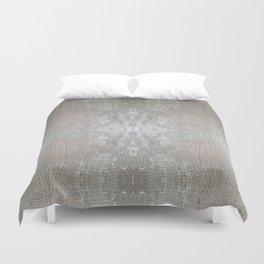 Silver Velvet Snake Pattern Duvet Cover