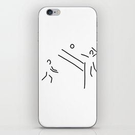 volleyball clench wet iPhone Skin