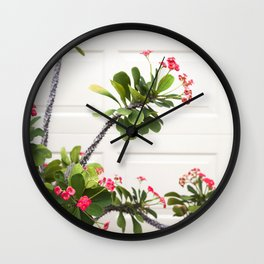 Blooming Crown of Thorns Wall Clock