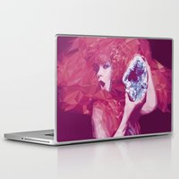 bjork Laptop & iPad Skins featuring Bjork Low Poly Collection by Giselle LowPoly