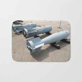 Armament of aircraft and helicopters rockets, bombs, cannons Bath Mat