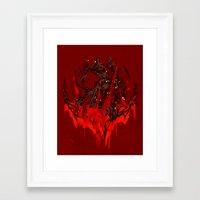 werewolf Framed Art Prints featuring Werewolf by Kivapo