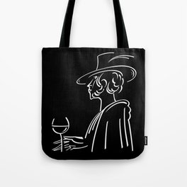 Abstract retro portrait of man Tote Bag