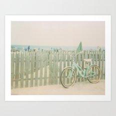 Beach Cruiser Bicycle Polaroid Art Print