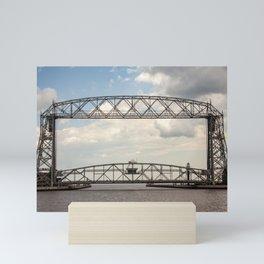 Aerial Lift Bridge-color Mini Art Print