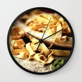 Italian Pasta Enjoyment Wall Clock