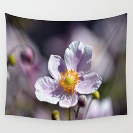 Pretty in White and Purple Wall Tapestry