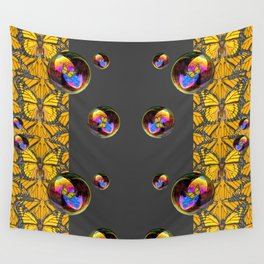SURREAL IRIDESCENT SOAP BUBBLES & BUTTERFLIES Wall Tapestry
