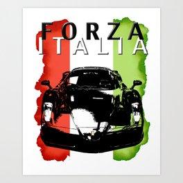Forza Italia Art Print