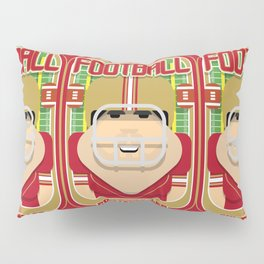 American Football Red and Gold - Enzone Puntfumbler - Victor version Pillow Sham
